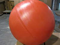 "31"" PE Hollow Ball, Red"